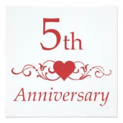 5 year anniversary invitations announcements zazzle