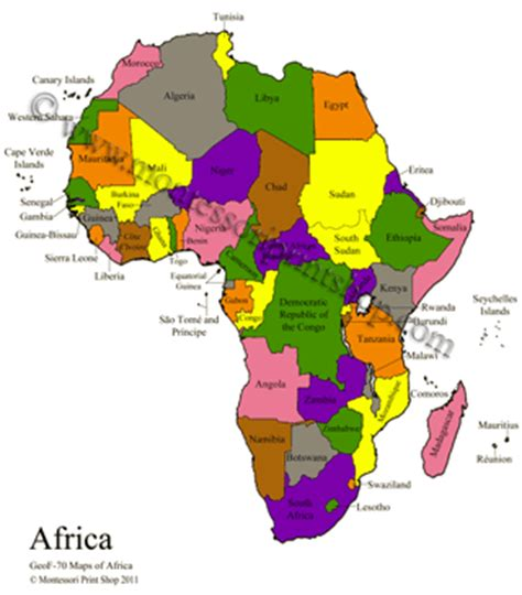 printable africa puzzle africa control maps masters montessori geography materials