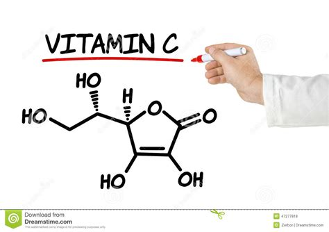 chemical formula  vitamin  stock illustration image