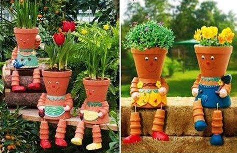 homemade flower pots ideas diy clay pot flower people gardens ideas pinterest