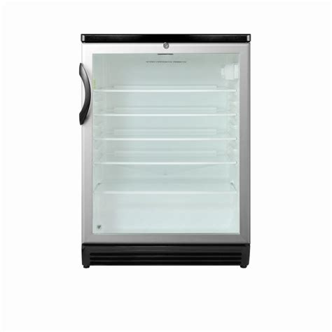 Mini Fridge Glass Door Summit Appliance 5 5 Cu Ft Glass Door Mini Refrigerator In Black With Lock Scr600bl The Home