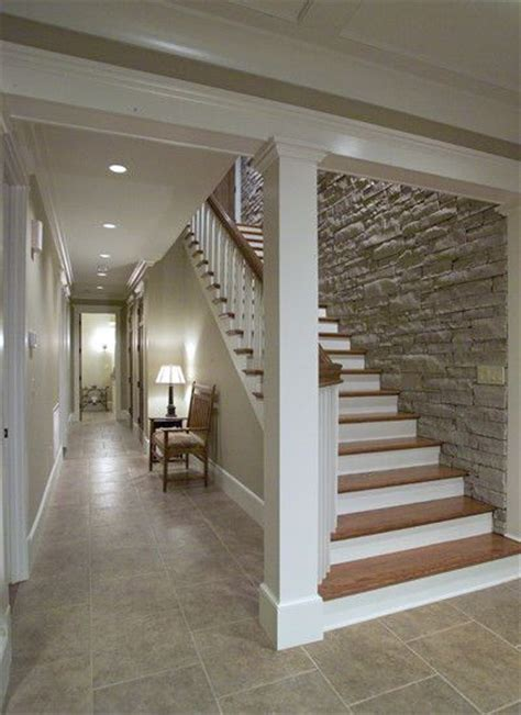 Basement Stairway Ideas Love The Stone Wall Down The Basement Stairs Staircase