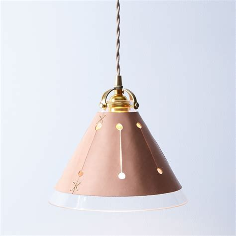 Light Leather by Leather Shade Pendant L On Food52