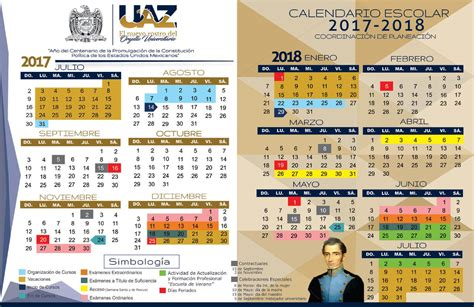 Calendario 2018 Mexico Sep U A Zacatecas On Quot Uaz Calendario Escolar 2017