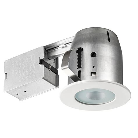 globe electric recessed lighting installation lithonia lighting 4 in matte white gu10 glass recessed