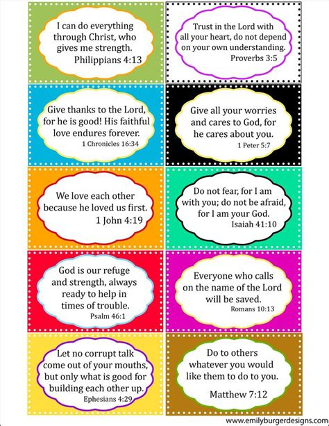 printable cards with scripture scripture cards to use with the kids www