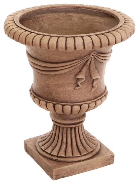 christopher home 20 inch antique clay zeus urn