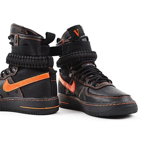 nike air one boots vlone x nike special field air 1 boots black orange