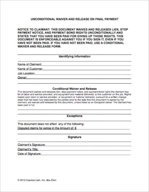 Texas Mechanic S Lien Waiver Form Form Resume Exles Ealwnj1z3q Lien Waiver Template