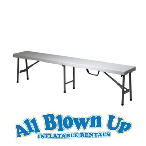bench apply online 6 folding bench all blown up inflatables evansville