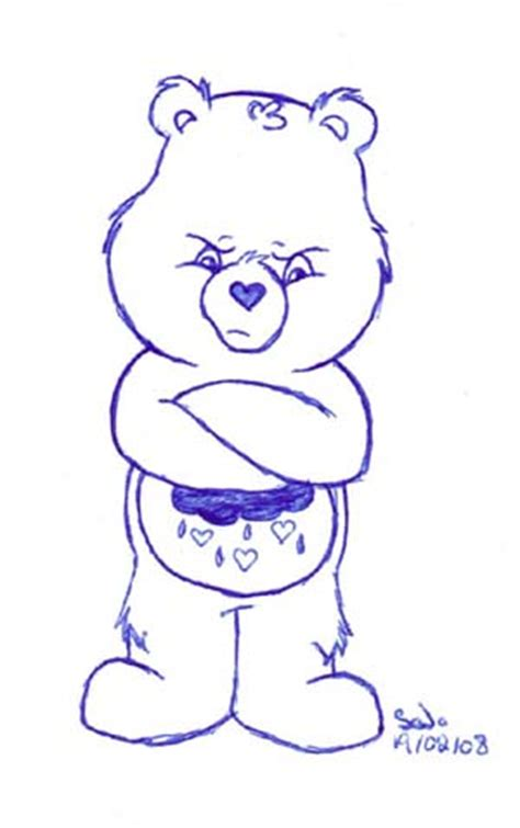 care bears grumpy bear by silana on deviantart