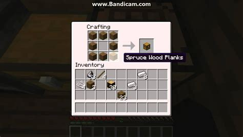 how to make a crafting bench in minecraft minecraft how to make a crafting table chest sword pickaxe bow stick and
