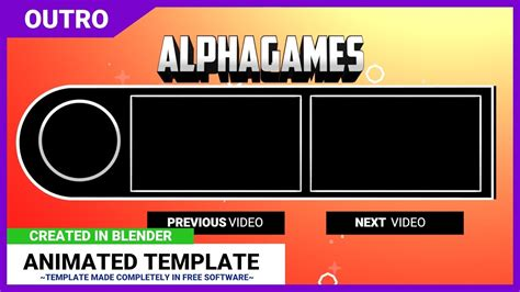 blender outro templates free blender outro template alphagames 60fps