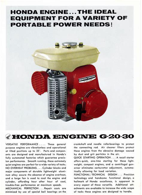 honda g65 engine honda g20 and g30 2 page brochure honda engine brochure
