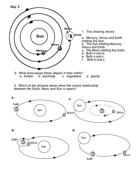 The Sun Earth Moon System Worksheet Answers