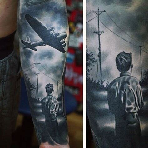 dedicated tattoo dramatic ww2 dedicated black and white boy with