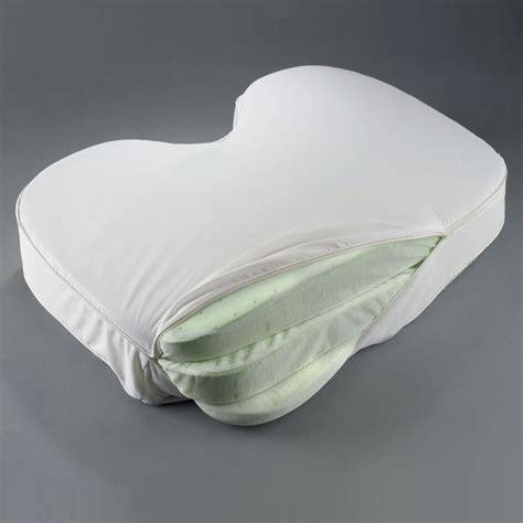 the side sleeper s adjustable pillow hammacher schlemmer