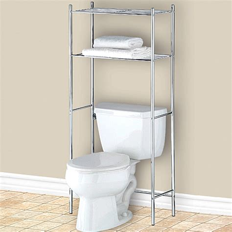 Over The Toilet Bathroom Shelf Chrome In Bathroom Shelves Bathroom Shelves The Toilet