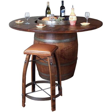 wine barrel dining table