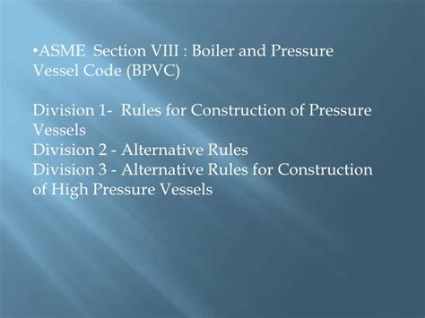 asme bpvc section viii rules for construction of pressure vessels pressure vessels