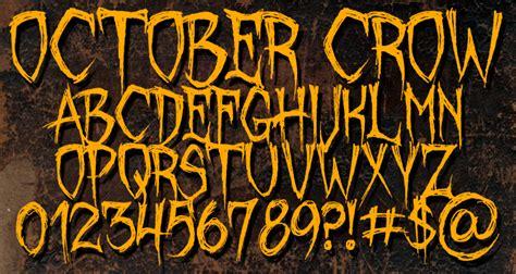 dafont halloween october crow font dafont com