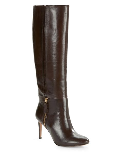 knee high brown boots nine west vintage leather knee high boots in brown