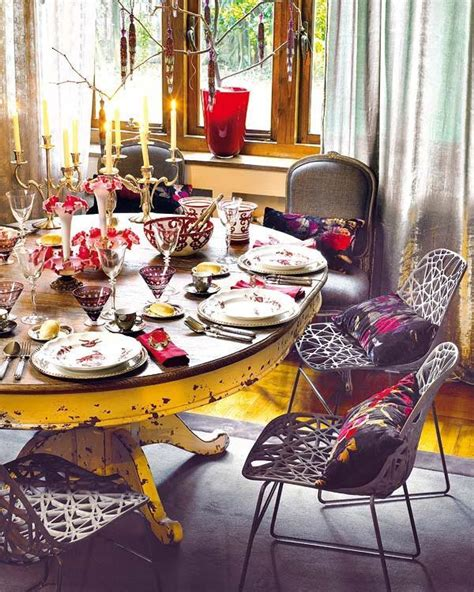 dining table decoration accessories 39 original boho chic dining room designs digsdigs