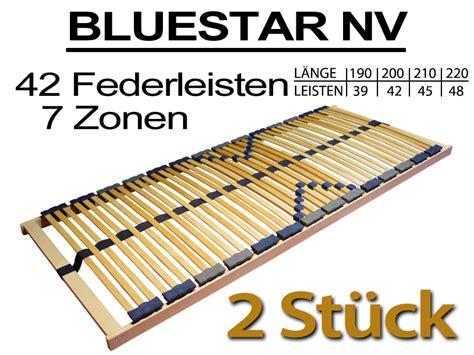 matratze 70x200 2 st 252 ck 7 zonen lattenrost 70x200 bluestar 42 f nv 2x