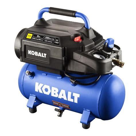 shop kobalt 3 gallon portable electric air compressor at lowes