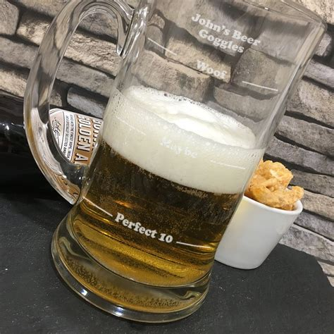 beer goggles beer goggles novelty large 2pt glass tankard 19 5cm