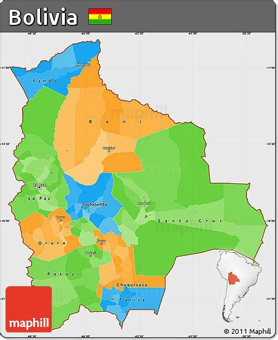bolivia political map free political simple map of bolivia single color outside