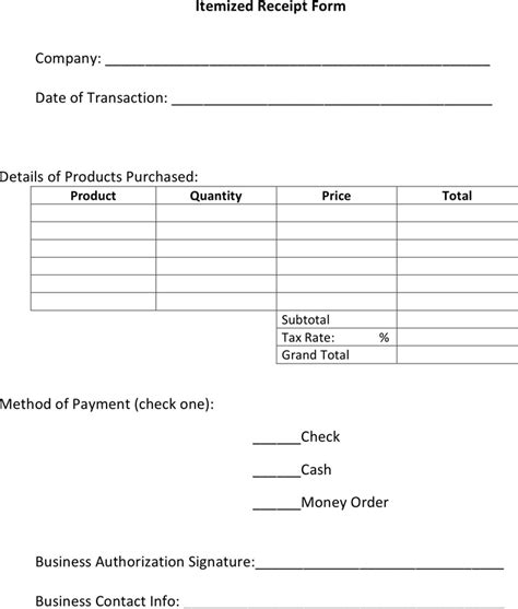 itemized receipt template itemized invoice template invoice exle