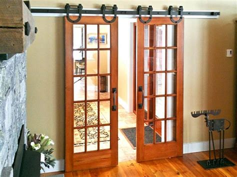 interior barn door kit with glass panel home interiors