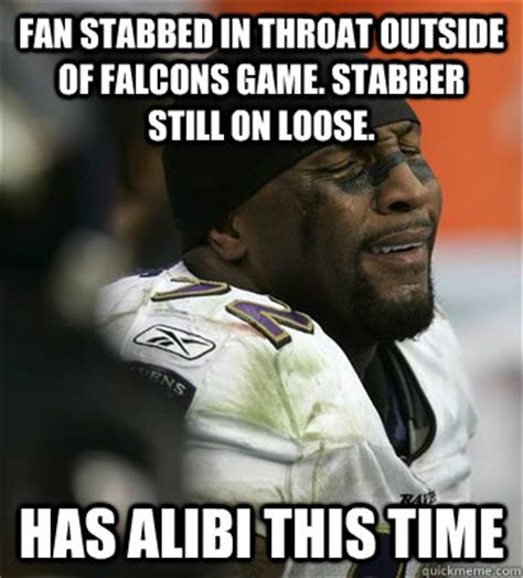 Ray Lewis Meme - fan stabbed in throat outside of falcons game stabber