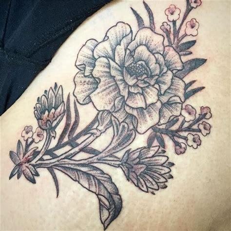 marigold tattoo black and grey marigold remington