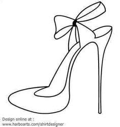 high heel pattern use the printable outline for crafts