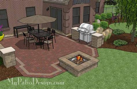 backyard pit grill backyard brick patio design with pit plan