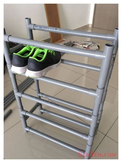 pvc pipe shoe storage diy 15 best ideas about pvc pipe furniture on pvc