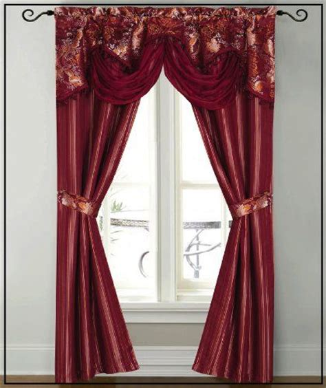 Burgundy Curtains With Valance Dainty Home Patine Window Panel With Attached Valance 84 By 56 Inch Burgundy Dainty Home Http