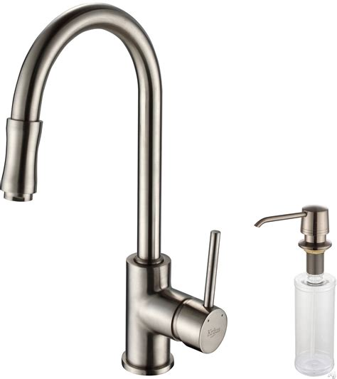 kitchen faucet spray head kraus kpf1622ksd30sn single lever pull out kitchen faucet