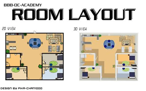 layout for university room layout 2d and 3d by nuazka on deviantart