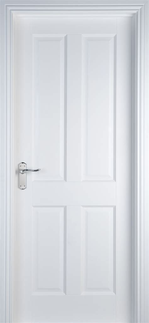 4 panel white primed door 40mm doors white