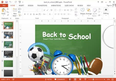Animated Back To School Powerpoint Template Back To School Ppt
