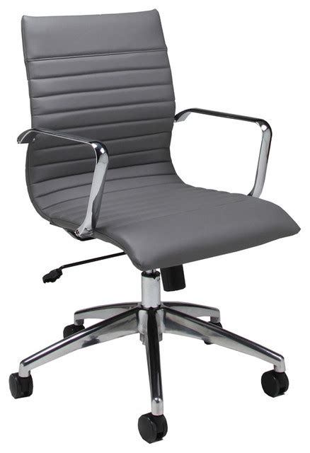 pastel janette office chair chrome and aluminum pu