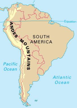 map  andes mountains  south america  travel