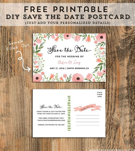 Free Save A Date Cards Templates by Free Save The Date Templates