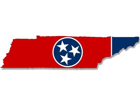 tennessee state colors 2x7 inch tennessee shaped tn state flag sticker decal