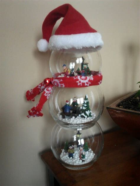snowman globe diy christmas craft easy all pieces