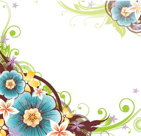 Border Clipart 1255757 Illustration By by Flower Vector Png Flower Border Png Patterns