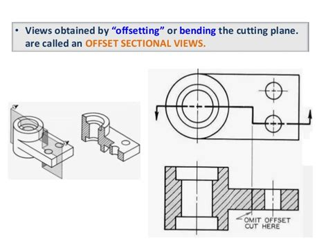 sectional view projection of sectional view engineering drawing b tech